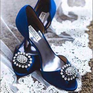Badgley Mischka Blue Heels